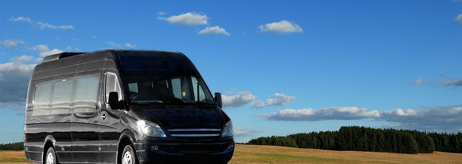 Black luxury Minibus