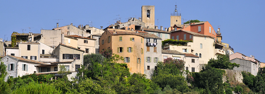 Biot town panoramic picture