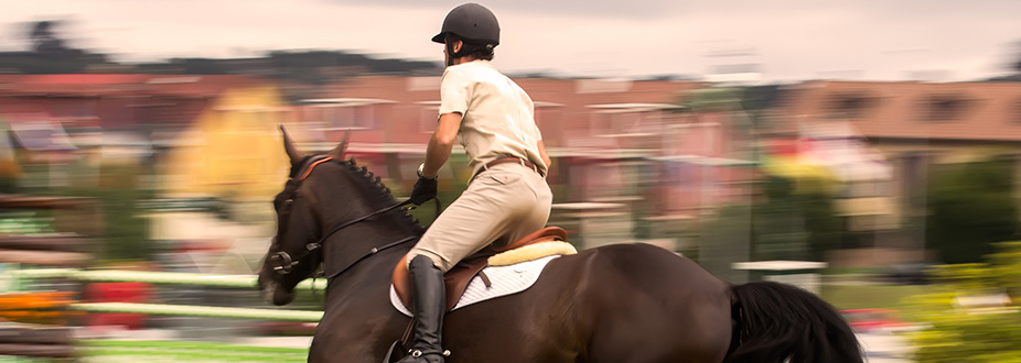 Cannes jumping international horseman with his horse