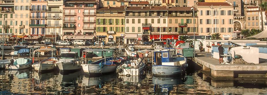 Small boats at Cannes' Marina