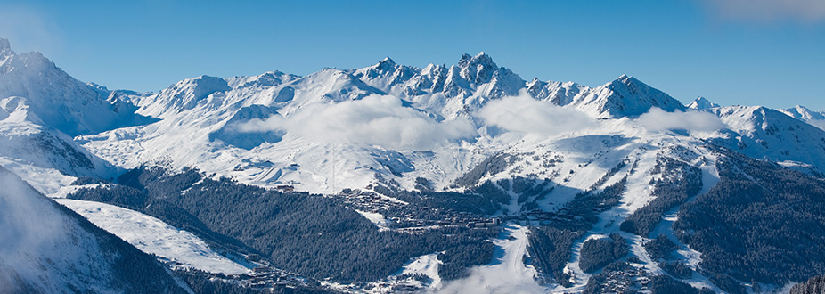 Courchevel Ski station mountains and slopes