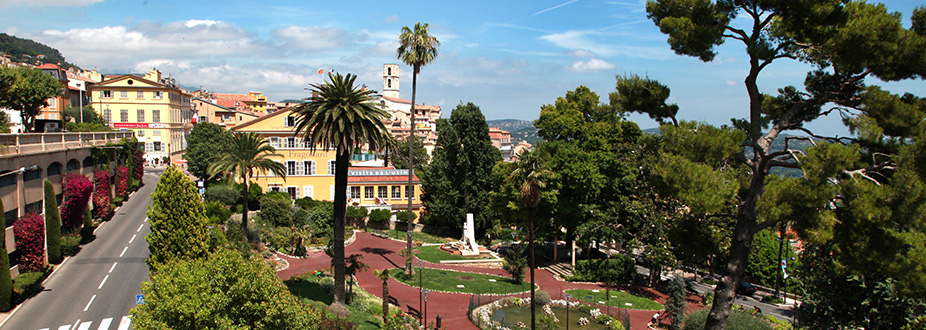 Grasse's garden and heritage buildings