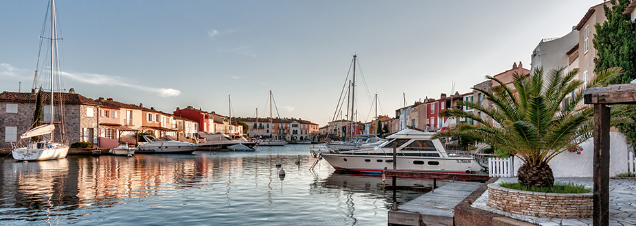 Grimaud's Harbor and houses