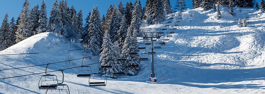Megeve ski station slopes