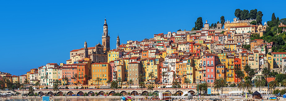 Menton Town panoramic picture