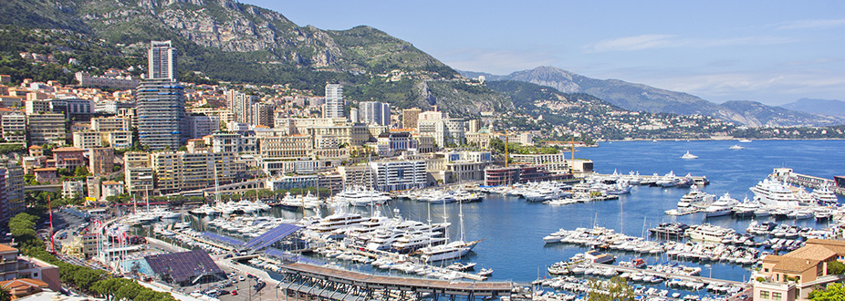 Aerial picture from Monaco's harbour