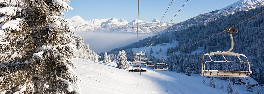 chairlift at Morzine's ski station