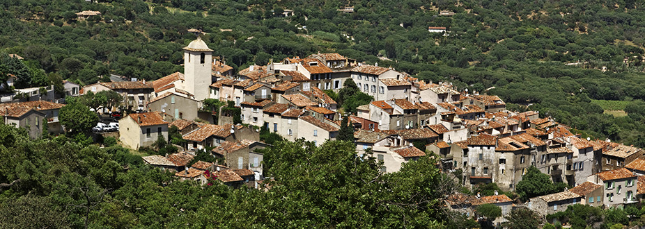 aerial picture from Ramatuelle village