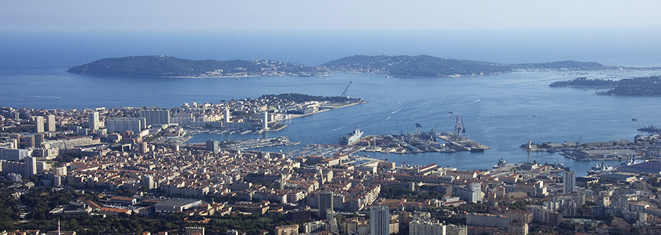 Aerial picture from Toulon town