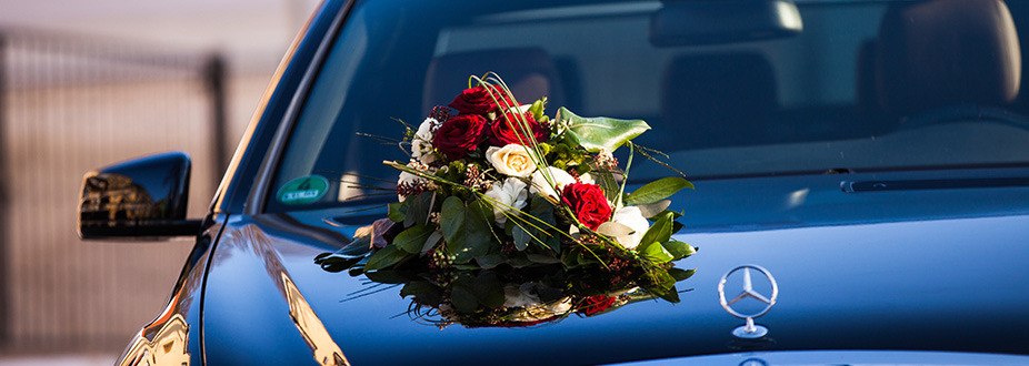 Wedding day limousine